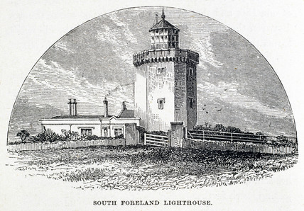 'South Foreland Lighthouse', Dover, Kent, 1875.