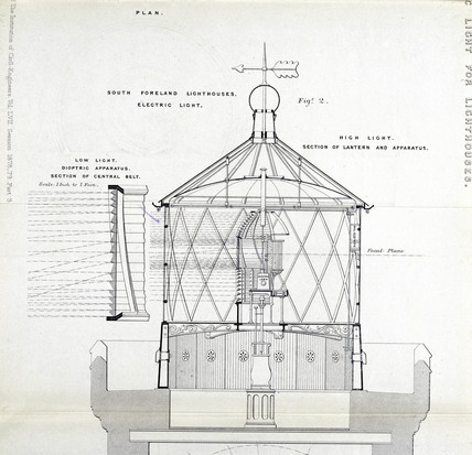 South Foreland lighthouse lamp, 1879.