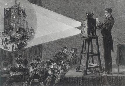 Magic lantern show, 1881.