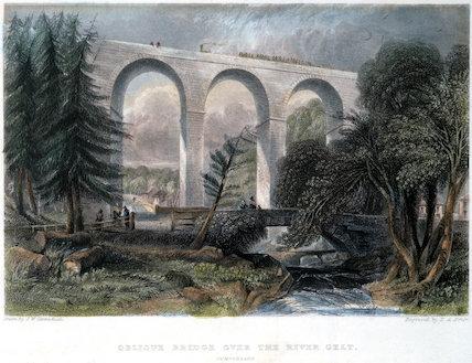 'Oblique Bridge over the River Gelt', Cumbria, 1836.