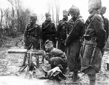 Sikh Indian regiment in France during WWI.