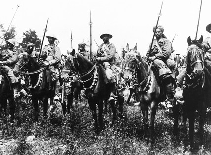 Indian Mounted Cavalry waiting to attack, W