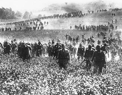 German infantry, invasion of Belgium, August 1914.