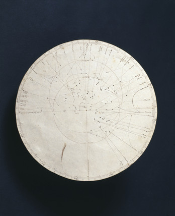 Hand-drawn map accompanying Malby's planisphere, 1858.