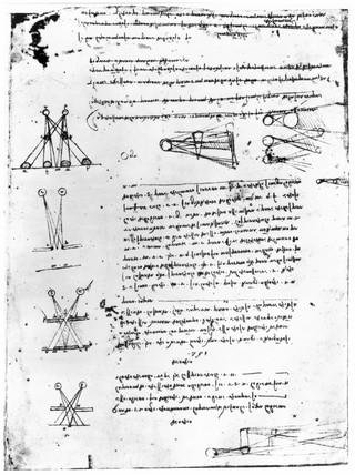 Study in binocular vision, from Leonardo da Vinci's notebooks, 15th century.