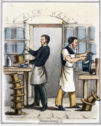 'Hatmaking', c 1845.