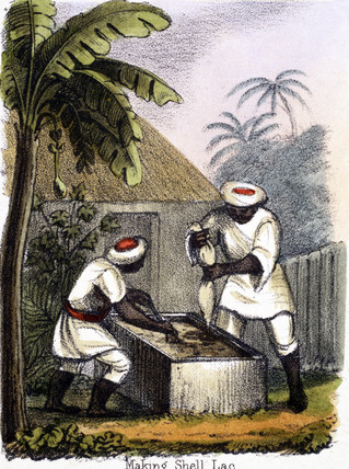 'Making Shell Lac', c 1845.