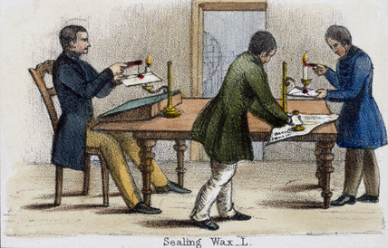 'Sealing Wax', c 1845.