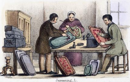 'Japanning', c 1845.
