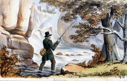 'Angling', c 1845.