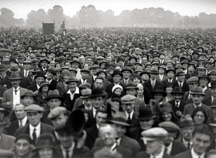 Unemployed demonstration, Hyde Park, London, September 1931.