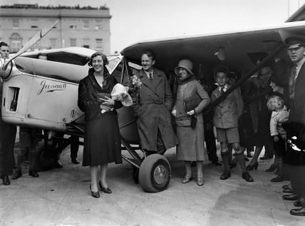 Amy Johnson, British aviator, Croydon aerodrome, 9 September 1931.