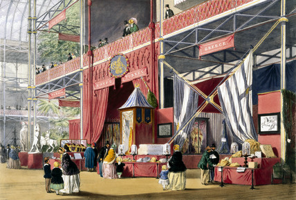 Greek stand at the Great Exhibition, Crystal Palace, London, 1851.