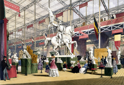 Belgian stand at the Great Exhibition, Crystal Palace, London, 1851.