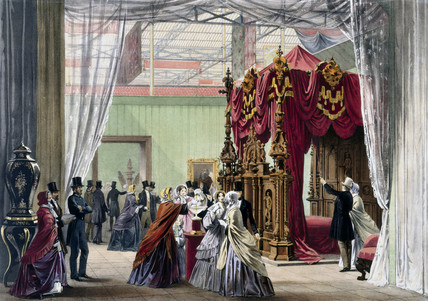 Austrian stand No 1 at the Great Exhibition, Crystal Palace, London, 1851.