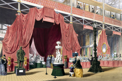 Austrian stand No 2 at the Great Exhibition, Crystal palace, London, 1851.