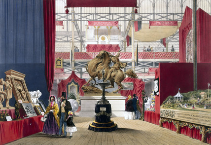 Zollverein stand at the Great Exhibition, Crystal Palace, London, 1851.