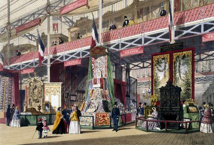 French No 1 stand at the Great Exhibition, Crystal Palace, London, 1851.