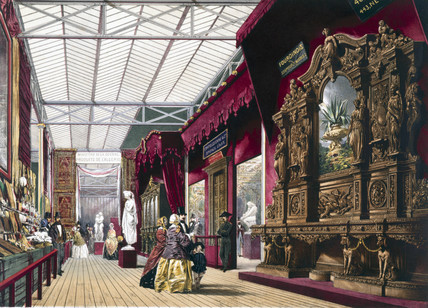 French No 2 stand at the Great Exhibition, Crystal Palace, London, 1851.