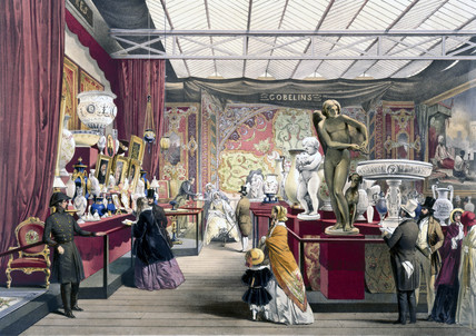 French No 3 stand at the Great Exhibition, Crystal Palace, London, 1851.