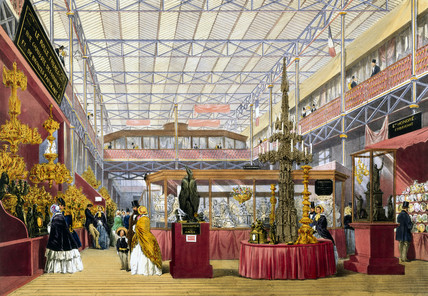 French No 4 stand at the Great Exhibition, Crystal Palace, London, 1851.