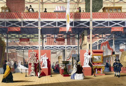 Italian stand at the Great Exhibition, Crystal Palace, London, 1851.