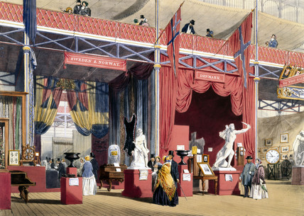Swedish and Danish stand at the Great Exhibition, Crystal Palace, London, 1851.