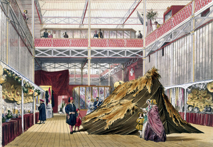 Tunisian No 1 stand at the Great Exhibition, Crystal Palace, London, 1851.