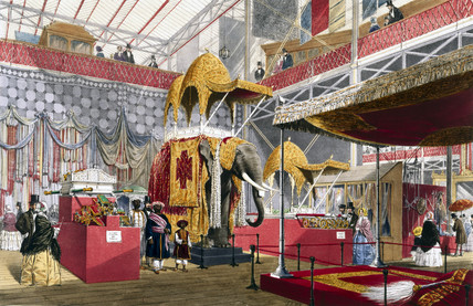 Indian No 4 stand at the Great Exhibition, Crystal Palace, London, 1851.