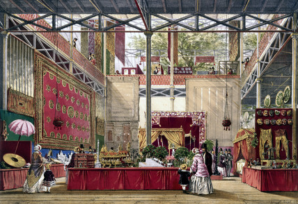 Indian No 5 stand at the Great Exhibition, Crystal Palace, 1851.