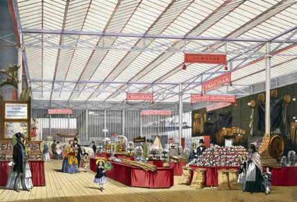 West Indian and colonies stand at the Great Exhibition, Crystal Palace, 1851.