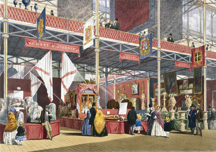Jersey and Guernsey, Malta and Ceylon stand at the Great Exhibition, 1851.