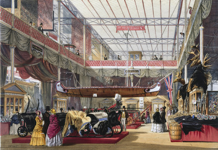 Canadian stand at the Great Exhibition, Crystal Palace, London, 1851.