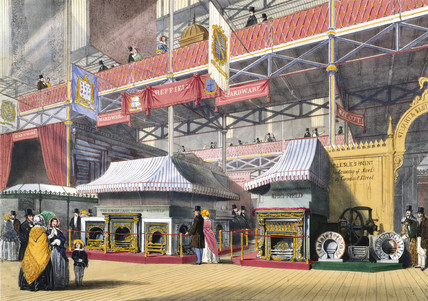 Sheffield hardware at the Great Exhibition, Crystal Palace, London, 1851.