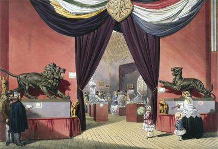 Octagonal room at the Great Exhibition, Crystal Palace, London, 1851.