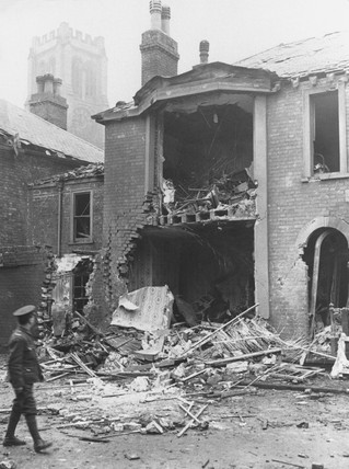 Bomb damage, Norfolk, First World War, 1914-1918.