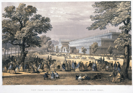 'View From Kensington Gardens, Looking Down the Kings Road', 1851.