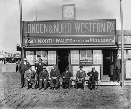 LNWR officials at Royal lancashire Show, 1909.