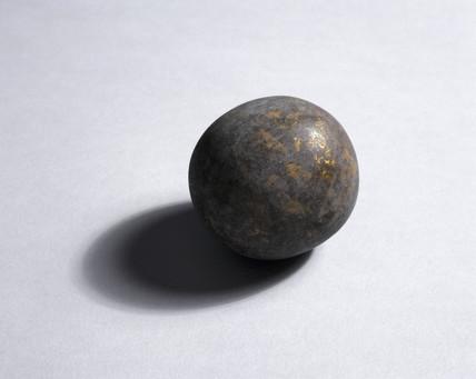 Spherical goa stone, Indian, c 17th century.