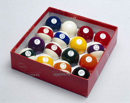 Box of pool balls, 1999.