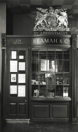 Shopfront of Bramah & Co, display in Science Museum, London.