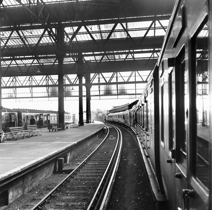 Awaiting departure at Waterloo station, 21