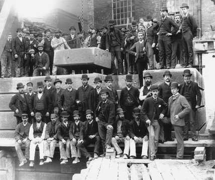 Officials and workmen of the London & North Western Railway, c 1880.