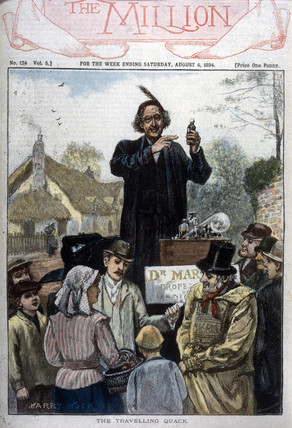 'The Travelling Quack', 1894.