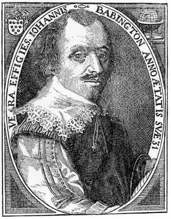 John Babington, English gunner and mathematician, 17th century.