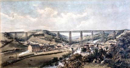Crumlin Viaduct, Taff Vale, Rhondda Cynon Taff, Wales, 1860.