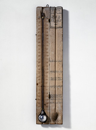 Photograph of a French thermometer with the centigrade scale by Pierre Casati, c. 1790