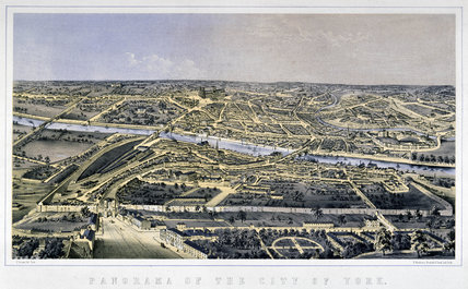 'Panorama of the City of York', c 1860.