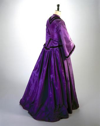 Silk dres, c 1862.