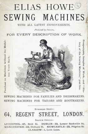 Elias Howe sewing machine, 1871.